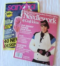 Sandra Knitting Magazine 1987 & Better Homes and Gardens Needlework Fall 1984