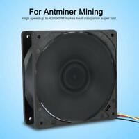 4000RPM DC 12V 4Pin Brushless Miner Cooling Fan Mining Cooler For Antminer S7 S9