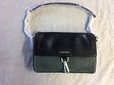 Calvin Klein Womens Brynn Suede Faux Leather Date Bag Evergreen (CKEV1)