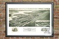 Old Map of Margate City, NJ from 1925 - Vintage New Jersey Art, Historic Decor