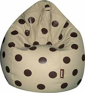 Luxuries Leather Bean Bag Cover xxxl standard bean bag printed (Without Beans)