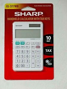 NEW Sharp Calculator EL-377WB Handheld 10 Digit Professional #EL377WB