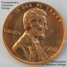 1960 Lincoln Penny One-Cent Proof Copper 1c Coin from US Mint Proof Set
