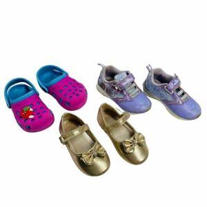 Baby Girls Shoes Crocs Dress Sandal Frozen Sneakers #23 #7 (3 Pairs)