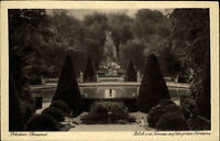 Potsdam Sansscouci s/w AK ~1920/30 Blick von der Terrasse auf die große Fontaine