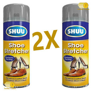 NEW 2x SHOE & BOOKS STRETCH LEATHER SOFTENER STRETCHER SPRAY 300ml CAN - 3214