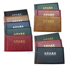20 Pages Paper Money Currency Banknote Collection Book Storage Album Folders New