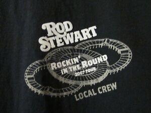 Local Crew XL Rod Stewart Rockin'  In The Round 2007 Tour T-Shirt  BX#2