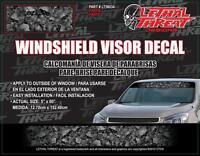 LETHAL THREAT Car Truck Van Sticker Decal WINDSHIELD VISOR SKULLS LT56034