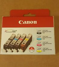 Canon (CLI-221) Ink, 4/pack, Tri-Color (Bk-C-M-Y)BRAND NEW SEALED!