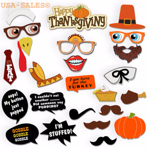 Thanksgiving Day Photo Booth Props Decorations, Attached NO DIY REQUIRED