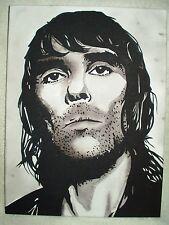 Canvas Painting Ian Brown Portrait B&W Art 16x12 inch Acrylic