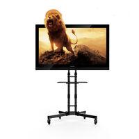 Mobile TV Stand AV Cart Office Home with One Shelf for 32-65 inch TV