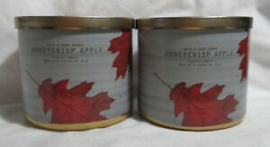 Bath & Body Works 3-wick Scented Candle Lot Set of 2 HONEYCRISP APPLE essen oils