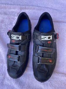 SIDI Dominator 5 MTB Cycling Shoes EUR 47 M US  Mountain Bike Black Used