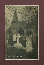 Devon NORTH TAWTON Church c1910s RP PPC by Francis of Post Office