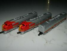 Atlas N Scale Santa Fe 3 Diesel Locos  2 A's & 1 B No Road VINTAGE AUSTRIA