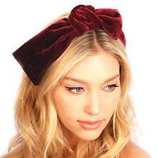 Kristin Perry Velvet Knotted Bow Headband