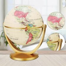 Globe World Map English Gold Base Earth Geography Student School Vintage Table