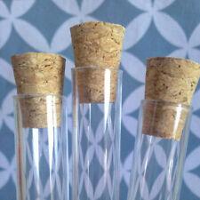100 x Plastic Test Tubes 20ml & Corks / Wedding Favor Tubes / Party Favours