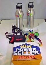 eBayana Memorabilia Lot of 15 eBay Water Bottles Lanyards Pins Note Clip Tote