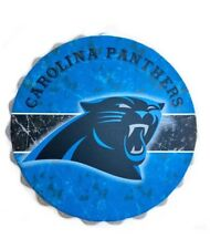 "Camiseta de Jersey Carolina Panthers Nº Botella de logotipo NFL Colgante de Decoración de pared Arte superior 13.5"""