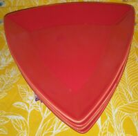 Buffalo China By Oneida Route 66 Red Triangle Salad Plates Set Of 4