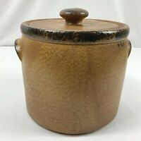 Vintage McCoy Pottery 1424 Canyon Mesa Cookie Jar Canister Stoneware Bean Pot