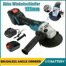 Neu~Akku Winkelschleifer 21V Trennschleifer Schleifmaschine Flex Mit 2 Batterien