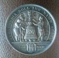 1859 Rare Hamburg Germany Sterling Silver Medal - Schiller Loos 41.5mm 28.2gram