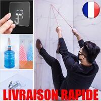 10 pcs Mur Crochet Forte Transparent Ventouse Cuisine Salle De Bains Multi-usage