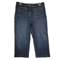 Chicos Platinum Crop Jeans Size 1.5 32in Waist Denim Stretchy Capri Womens CP3