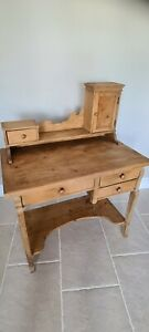 Lovely Old original Victorian pine  dressing table or can be used as a desk
