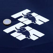 LANCIA DELTA INTEGRALE HF sticker decal vinile auto Classic 100mm x2 Black & White