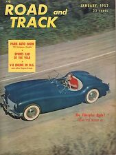 Road & Track January 1953 MG TD Engine, Citroen F-1-53 052417nonDBE