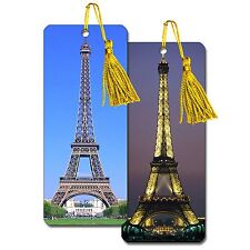 Bookmark - 3D Bookmark Eiffel Tower Paris France Day and Night #BM25X65-602#