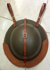 British Leather Helmet Carrier for Saddle or Sam Browne Belt