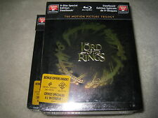 The Lord of the Rings Blu-ray Trilogy Steelbook B.New Sealed