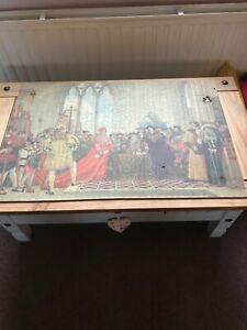 Vintage wooden jigsaw puzzle - over 1000 pieces ? - unusual quarter cut