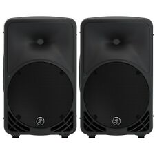 2x Mackie SRM350 V3 1000W Portable Powered Speaker with Built-in 2-Channel Mixer