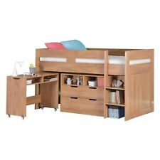 Cosmo Mid Sleeper Orlando Bed With Pull out Desk