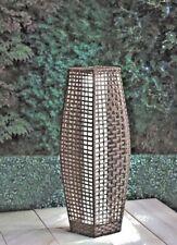 69cm Venice Brown Rattan Effect Traditional Garden Floor Lamp