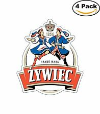 Zywiec Poland Beer Alcohol Decal Diecut Sticker 4 Stickers