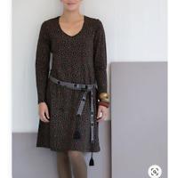 new GUDRUN SJODEN gunnel M dress STRETCH eco organic coton  floral black
