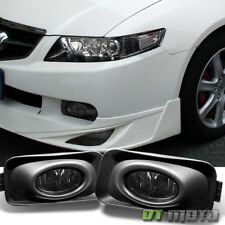 Smoked 2004-2005 Acura TSX Bumper Fog Lights Driving Lamps w/Switch Left+Right