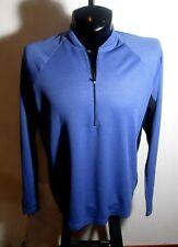 Men's L.L.BEAN Blue  Long Sleeve 1/2 Zip Jersey Size L