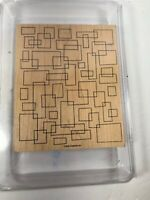 Stampin' Up! Geometric  Mount Rubber Large Single Stamp Set. Gently Used
