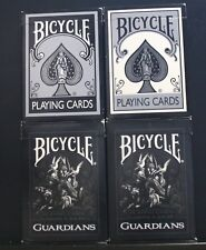 4 DECKS VINTAGE PLAYING CARDS SWAP BICYCLE 1128 1228 OPEN, GUARDIANS NEW SEALED