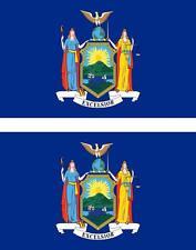 2 x Autocollant sticker voiture vinyl drapeau USA americain new york