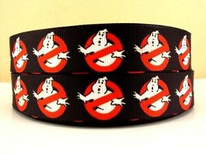 """Ghostbusters Ribbon 7/8"""" (22mm) Wide 1m is £1.49 NEW UK SELLER FREE P&P"""
